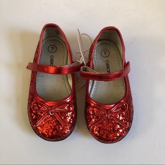 Cherokee Shoes Baby Girl Red Glitter Poshmark